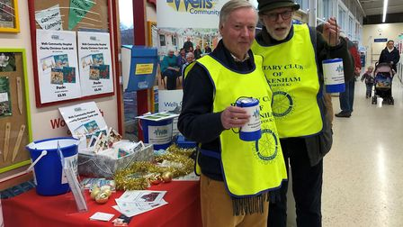 Rotary Club of Fakenham & District celebrates 60 years as a club. Bucket collection. Picture: ROTARY