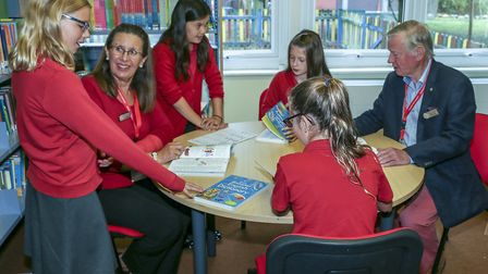 Rotary Club of Fakenham & District celebrates 60 years as a club. Working with schools. Picture: Gra