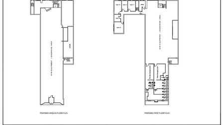 The floor plan of the new gym in the Chattels store, designed by Architech. Photo: Supplied by Natha
