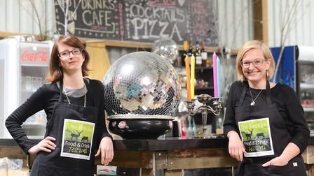 Rachel Hughes-Green and (R) Sarah Hughes-Wade of The Fire Pit Camp in Wendling. Picture: Ian Burt