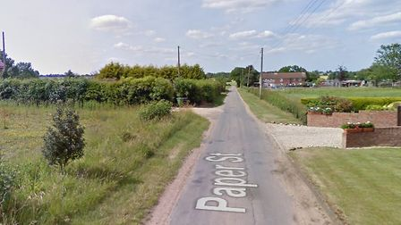 A car was stolen from a driveway in Paper Street in Yaxham. Picture: Google