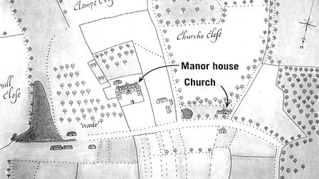 A plan of the lost medieval village of Godwick, which is between Fakenham and Swaffham. Picture: COU