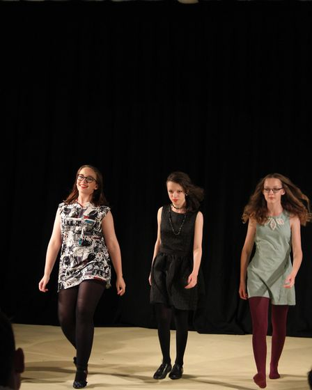 Textiles on display in a fashion show at Dereham Neatherd High School. Picture: Malcolm Dent.