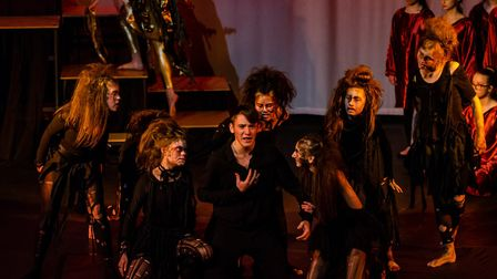 The drama Golden Masque 2019 Eumenedes and Orestes at Dereham Neatherd High School. Picture: Neather