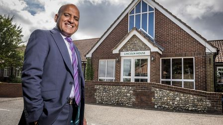 Dr Sanjay Kaushal, managing director of Castlemeadow Care, outside Lincoln House Care Home in Swanto