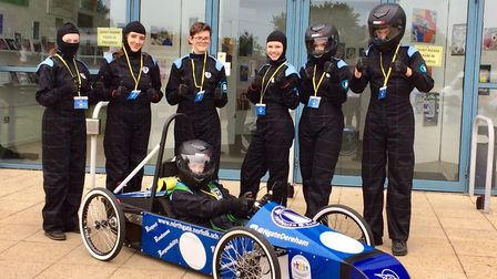 Northgate High School in Dereham took part in the race day event at the Lotus test track at Hethel.