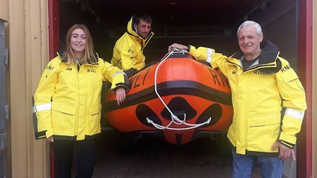Wells lifeboat 150th anniversary. Phil, Angel and Darren Eaglen. Pictures: Wells lifeboat