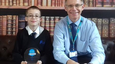Type 1 diabetic Lewis Wakefield with teacher Colin Bye, who works with Lewis day-to-day PICTURE: Fak