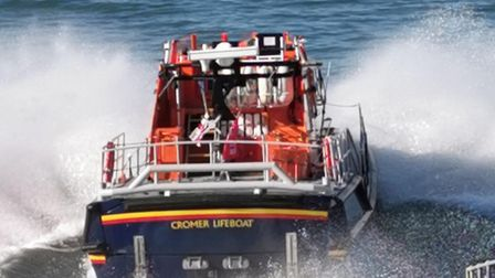 The lifeboat in Cromer was launched to reports of a suspected person in the water at the pier earlie