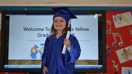 More than 100 children graduated from Little Owls in Scarning and Toftwood, Dereham. Picture: LITTLE