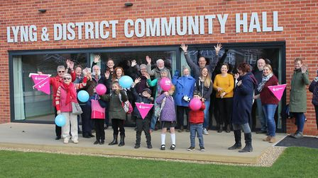 Lyng and District Community Hall opened following a rebuild earlier this year. The official opening