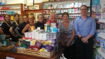 Burnham Market Pharmacy has closed its doors for the final time. Pictured is Sam Gibbs, one the chil