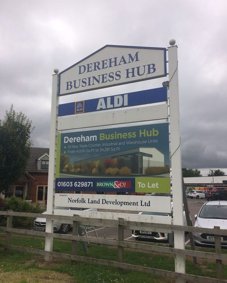 The Dereham Business Hub, where several new units are being developed. Picture: Archant