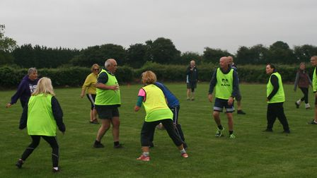 Walking rugby is becoming increasingly popular in Fakenham. Picture: supplied by Jeffrey Pearce