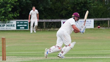 Fakenham''s Keegan Monahan-Fairlie on his way to a well-deserved maiden century in the Norfolk Alli