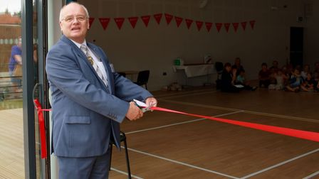 Gordon Bambridge opening the village hall in Lyng. Pictures: supplied by Jenna Youngs