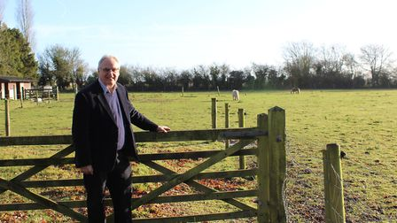 Land Group Director David Winch at the Colkirk new homes site. Picture: Land Group