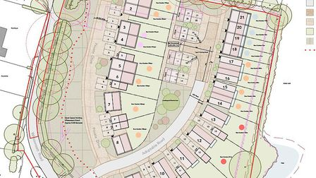 Layout for new homes in Colkirk. Picture: supplied by Land Group
