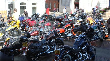Around 500 Harley Davidson motor cycles gathered in previous years PICTURE: Richard Brunton
