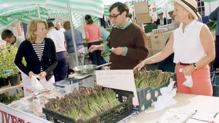 The first Farmers' Market, in May 2001. PICTURE: Dennis Whitehead