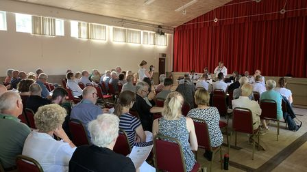 Police and Crime Commissioner Lorne Green speaks to the audience at the public Q&A in Fakenham. PICT
