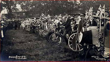A scene from the peace march in 1919. The event has inspired the Dereham Peace Day 2019 event. Pictu