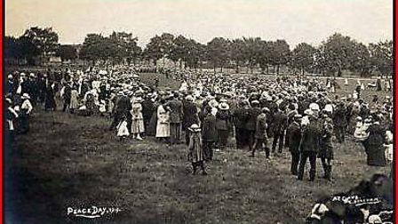 The peace celebrations in 1919. Dereham's annual carnival will be replaced with a special Dereham Pe