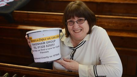 Sharon Moore fundraising at the festival in 2016. Picture: Ian Burt