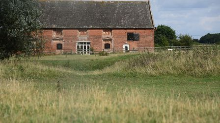 The Great Barn at the new visitor trail around the lost village of Godwick. Picture: DENISE BRADLEY