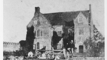 The eastern side of the Old Hall, photographed before it was destroyed in a 19th century fire. Pictu