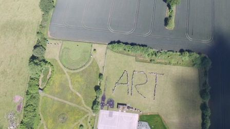 A giant art installation made up of 400 pupils was the highlight of a week celebrating creativity at
