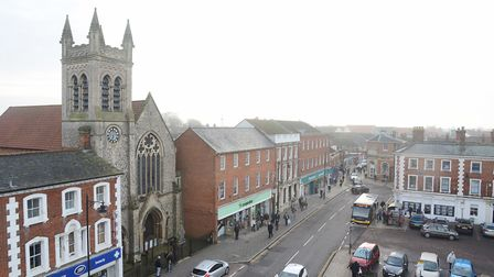 Dereham could soon be boosted by the installation of signage costing £45,000. Picture: Ian Burt