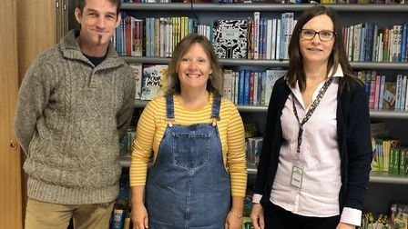 Anita Clarke, centre, at Green Pastures Community Hub on Norwich Street in Dereham. Picture: Archant