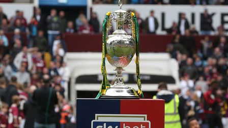 Fans can have their photo taken with the EFL Championship trophy at the Northgate High School and De
