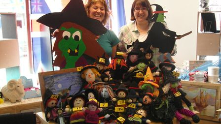 Hiding witches with Frances Neale, from Which Craft?, in August 2012 PICTURE: Submitted