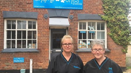 Wendy Barker (left) and Janette Chamberlain from Shampooches in Dereham. They say the closure of Wel