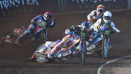 Speedway legend Greg Hancock - leading here in the World Cup at Adrian Flux Arena - is taking a brea