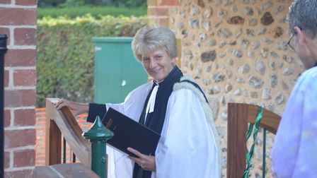 The Very Reverend Jane Hedges, Dean of Norwich and Robin Stapleford, rector of the Upper Wensum Bene