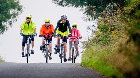 Climbing hills in 2016's cycle ride from Fakenham PICTURE: Active Fakenham