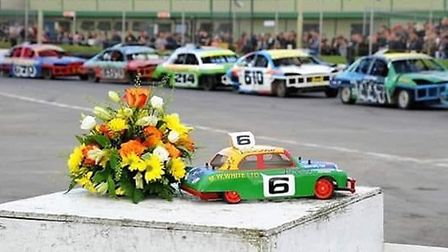 Tributes were paid to Horry Barnes at a Skegness stock car racing meeting. Picture: Barnes family