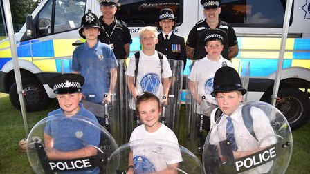 Northgate School in Dereham hold their community day for pupils and families.Police demoByline: Sony