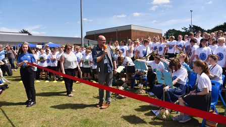 Northgate School in Dereham hold their community day for pupils and families.Author Alex Scarrow ope