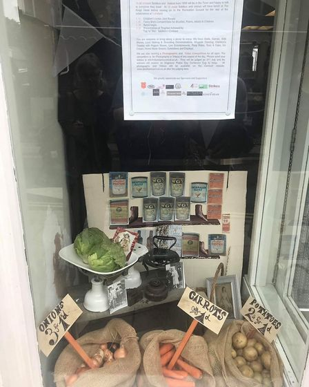 Part of the George's On The High Street display, which was one of the joint winners in the Dereham P