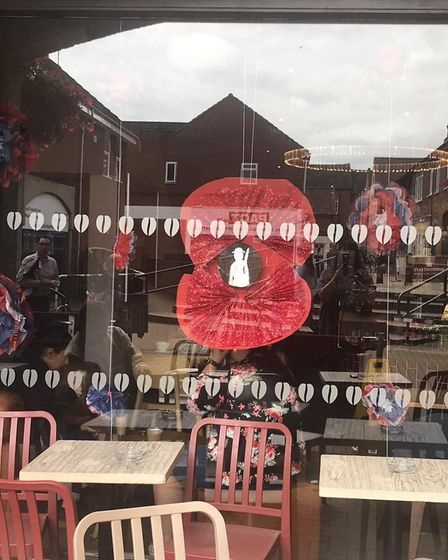 Costa in Nelson Place in Dereham, which was one of the highly commended displays in the Peace Day co