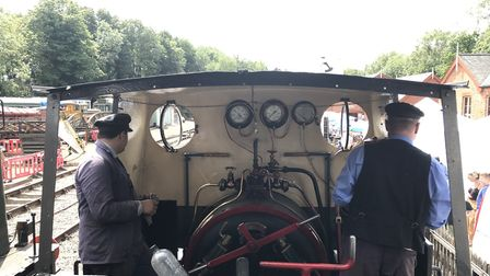 Guests were able to travel on vintage steam locomotives at the 10th edition of the Whitwell and Reep