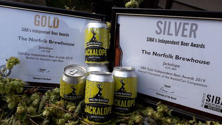 The gold-standard lager with its awards PICTURE: Norfolk Brewhouse