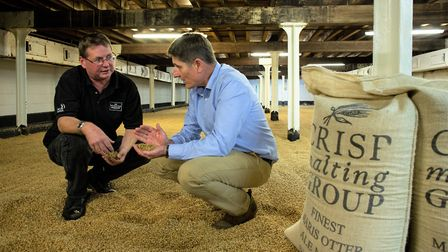 David Holliday with Rob, a supplier of Norfolk malt PICTURE: Submitted
