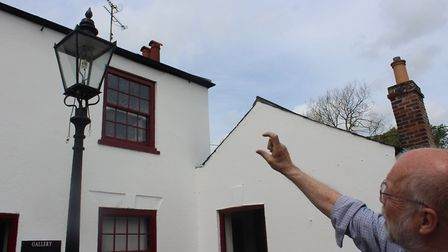 The gas-fired lamp of the heritage trail, shown by David Yates, curator PICTURE: Matthew Farmer