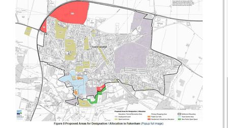 Controversial homes plan for Fakenham in NNDC Local Plan. Pictures: Planning documents