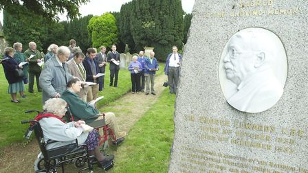 A service to mark 150 years since the birth of union founder Sir George Edwards, beside his grave in